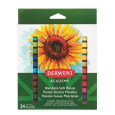 Pastelli morbidi Derwent Academy - diametro 10 mm - assortiti - 98216 (conf.24) - Derwent