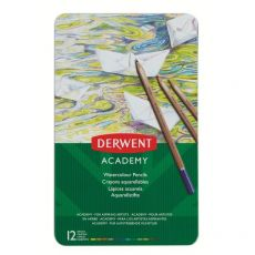 Matite acquerellabili Derwent Academy - assortiti - 2301941 (conf.12) - Derwent