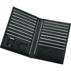 Porta carte di credito Juscha - 11x11 cm - 18 fessure - nero - 42004 - Juscha