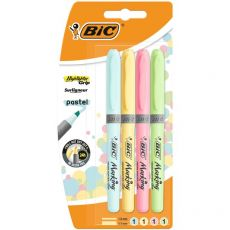 Evidenziatore a penna Highlighter Grip Bic - assortiti pastello - 964859 (conf.4) - Bic