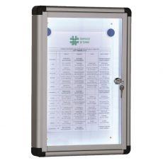 Bacheche luminose SGS - Anta battente - standard - A4 - 30x4,5x44 cm - WD 530 L - SGS