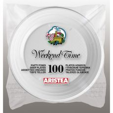 Piatti piani Aristea - bianco - 20x20 cm - 151705 (conf.100) - Aristea