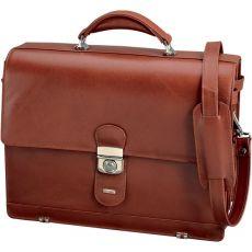 Borsa per notebook Mocca Alassio - 38×30×16 cm - pelle - cognac - 47124 - Alassio