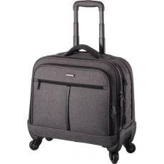 Trolley porta laptop Phonix Lightpak - 37,5x44,5x21 cm - poliestere - nero - 46133 - Lightpak