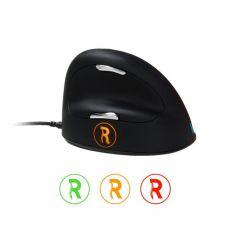 Mouse ergonomico HE Break R-GO Tools - cavo - destri - nero - RGOBRHEMLR - R-GO Tools