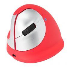 Mouse ergonomico HE Sport R-GO Tools - wireless - mancini - rosso - RGOHEREDL - R-GO Tools