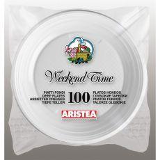 Piatti in plastica Aristea - bianco - Ø20,3 cm - 152705 (conf.100) - Aristea