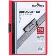 Cartellina Duraclip Durable - 6mm - Capacità 60 fogli - rosso - 2209-03 - Durable