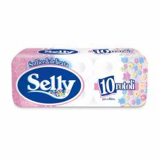 Carta Igienica Selly 4 10 Rotoli - Pura Cellulosa - CarIND