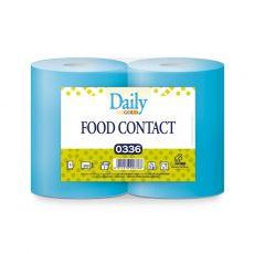 Carta Bobina Asciugatutto Daily Blue Alimentare - Conf.ne 2 Rotoli - 3 Veli - 550 Strappi - CarIND