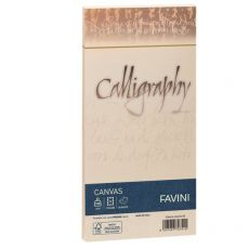 Buste Calligraphy Millerighe Favini - buste - 100 g/m2 - cm. 11x22 - avorio - A57Q424 (conf.25) - Favini