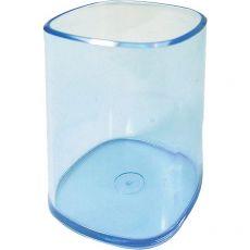 Bicchiere portapenne Arda - azzurro trasparente - TR4111 BL - Arda