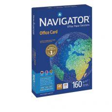 Carta Office Card Navigator - A4 - 160 g/mq - 170 µm - 0010CE (risma 250 fogli) - Navigator
